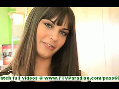Cory cute innocent brunette...